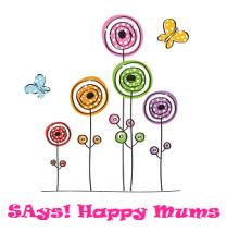 SAys Happy Mums