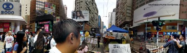 New tourist spot in HK - Umbrella Movement