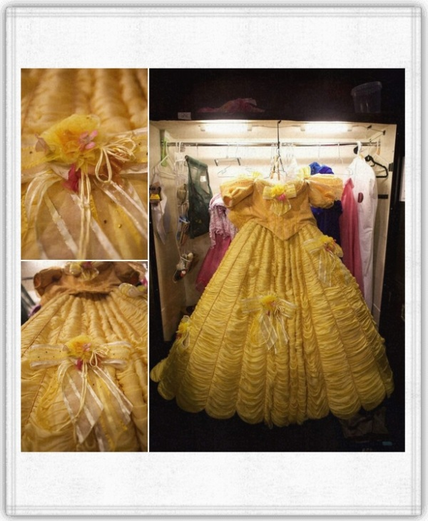 Beauty and the Beast - Belle's Costume and the entire production uses 580 costume pieces.