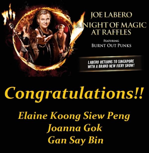 Joe Labero A Night of Magic at Raffles Says Happy Mums