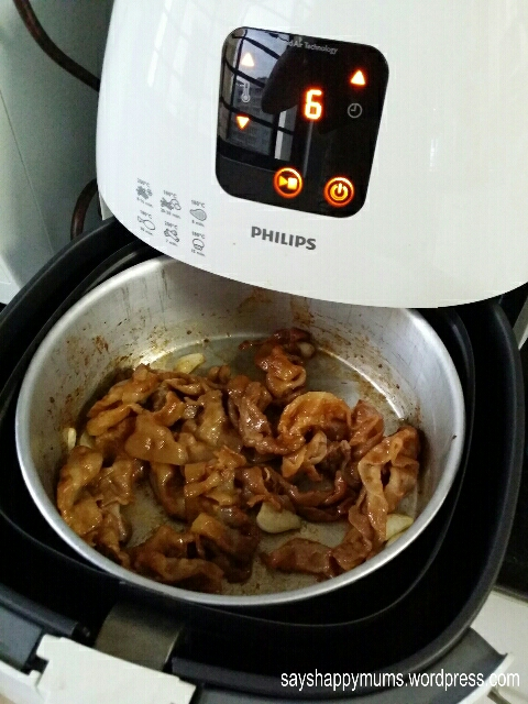 Air-fried Pork Shabu with Teriyaki Sauce