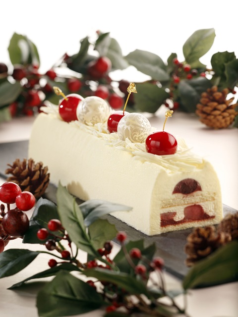Mandarin Orchard Singapore - Cherry & Hokkaido Cream Fairy Tale Log