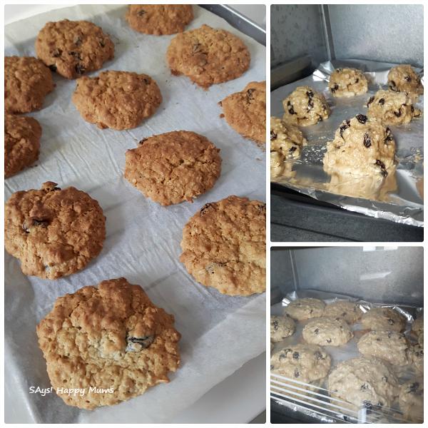 Oats & Raisin Cookies