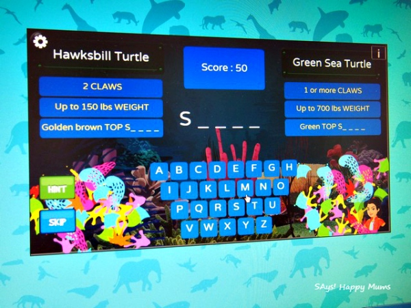 """Hangman"" kind of game for the keywords about sea turtles"