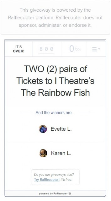 I Theatre The Rainbow Fish