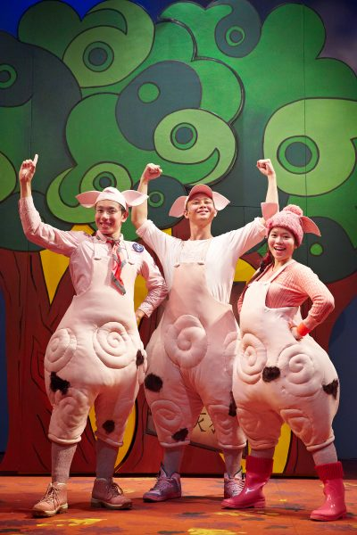 The Three Little Pigs 2013_Edward Choy, Oliver Pang and Vanessa Phang in TLC's