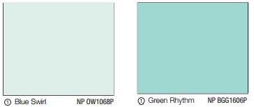 Interior Paint (Jiejie) - Blue Swirl NP OW1068P n Green Rhythm NP BGG1606P