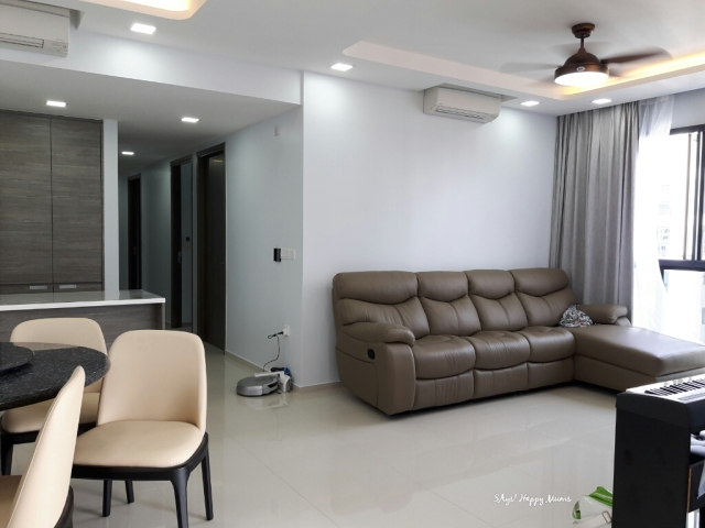 The completion of my flawlessly painted walls by nippon paint professionals says happy mums for Nippon paint colour for living room